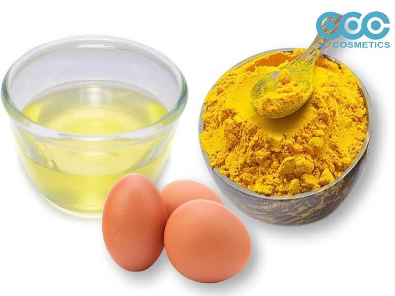Dầu ô liu và lòng trắng trứng, bột nghệ