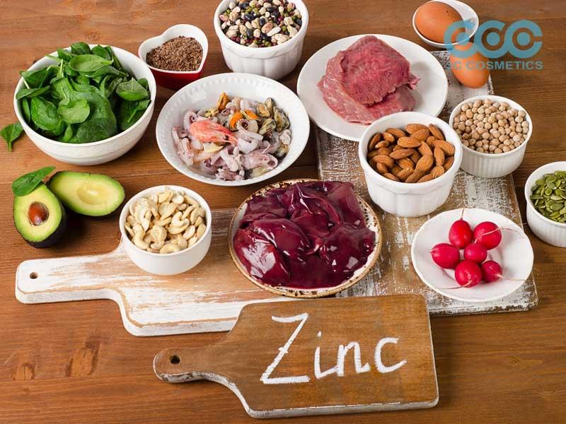 ăn các thực phẩm có chữa chất kẽm