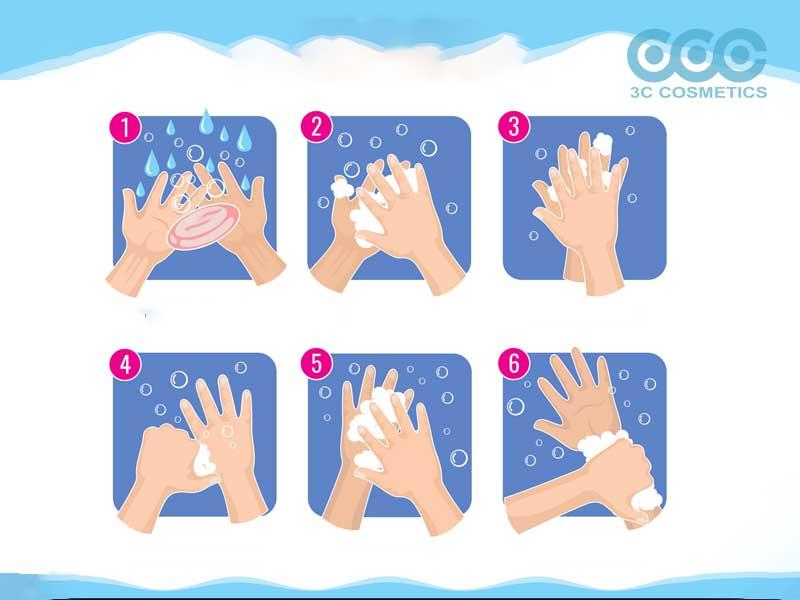 các bước rửa tay đúng cách với sữa rửa tay