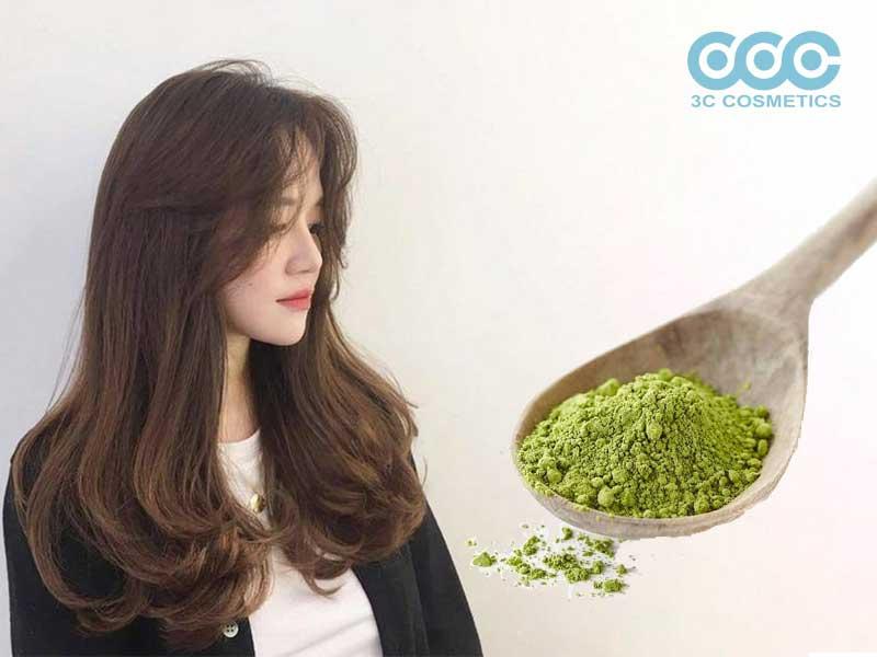 Chăm sóc là cách trị tóc dầu bết dính bằng bột trà xanh