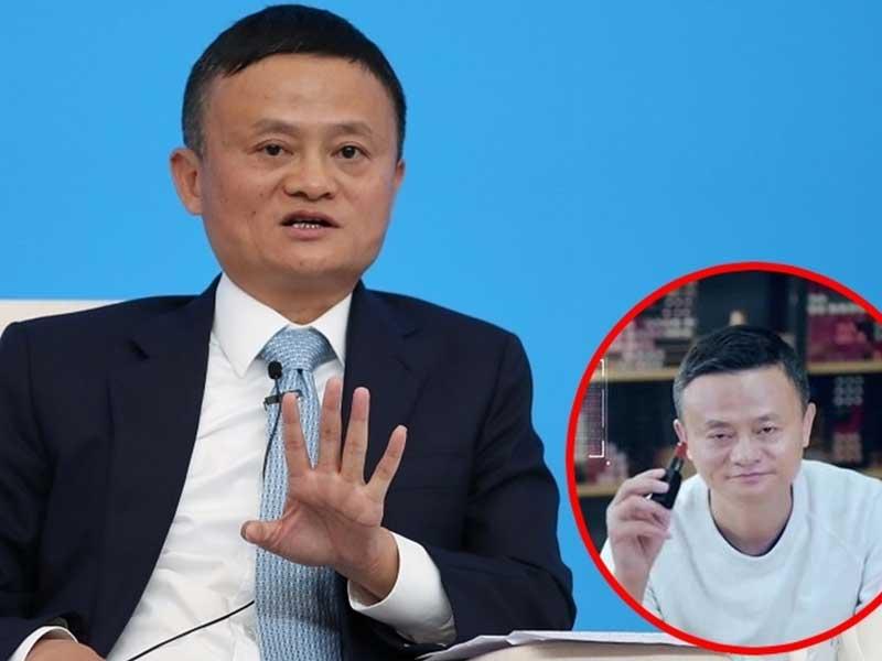 Hình ảnh doanh nhân Jack Ma livestream bán son
